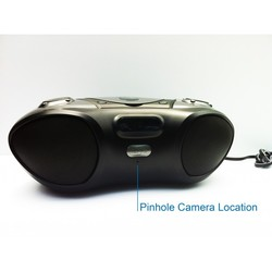 WiFi Night Vision Bluetooth Boombox Spy Hidden Nanny Camera