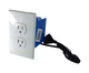 Self Recording Battery Powered Outlet Hidden Spy Nanny Camera White
