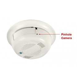 Smoke Detector Covert Wifi Spy Nanny Hidden Camera (Horizontal)